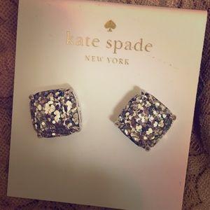 Kate Spade Silver Glitter Earrings